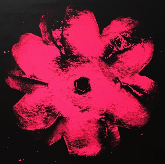 Rubem Robierb, 'Power Flower N-2 (light pink on black)', 2016, Mixed Media, Mixed media on canvas, Coalition for the Homeless Benefit Auction