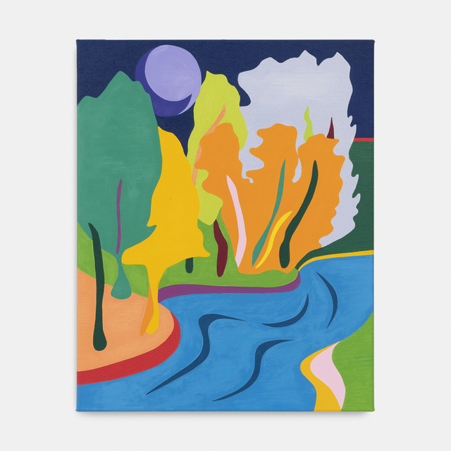 , 'Bois de la Cambre at Nightfall in Neon,' 2019, MLF | MARIE-LAURE FLEISCH