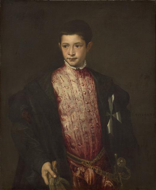 Titian, 'Ranuccio Farnese', 1542, National Gallery of Art, Washington, D.C.