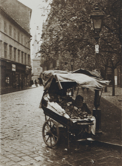 André Kertész, 'Pushcart on Cobblestone Street with Lamp Post, Budapest, Hungary', 1919, Contemporary Works/Vintage Works