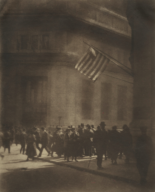 , 'A Wall Street Corner at Noon Hour,' ca. 1910, Lee Gallery