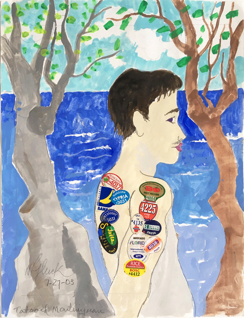 , 'Young Tattooed Martinquan,' 2003, Luis De Jesus Los Angeles