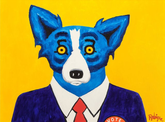 George Rodrigue, 'I Am Just a Regular Red-Blooded American', 1996, Heritage Auctions