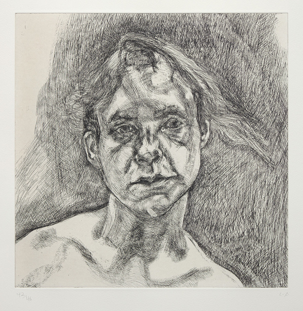 Lucian Freud, 'Head of a Naked Girl', 2000, Phillips
