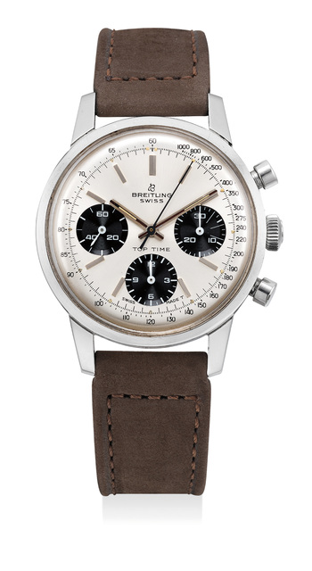 Breitling, 'A fine stainless steel chronograph wristwatch with panda dial', Circa 1970, Phillips