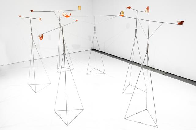 Pavla Sceranková, 'Collision of Galaxies', 2014, Installation, Kinetic metal construction, porcelain, Drdova
