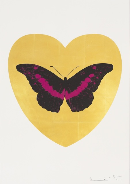 , 'I Love You - gold leaf, black, fuchsia ,' 2015, Paul Stolper Gallery
