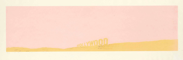 Ed Ruscha, 'Pepto-Caviar Hollywood', 1970, Print, Screenprint with pepto-bismol and caviar in colors, on copperplate deluxe paper, Carolina Nitsch Contemporary Art