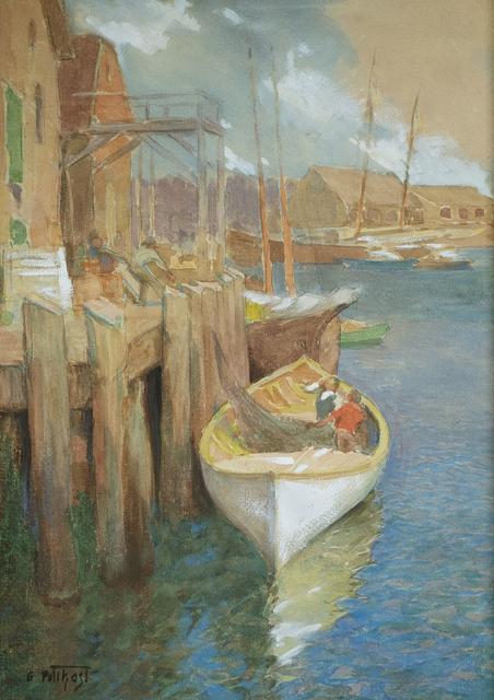 Edward Henry Potthast, 'Hauling Nets, Gloucester', ca. 1895-1910, Questroyal Fine Art