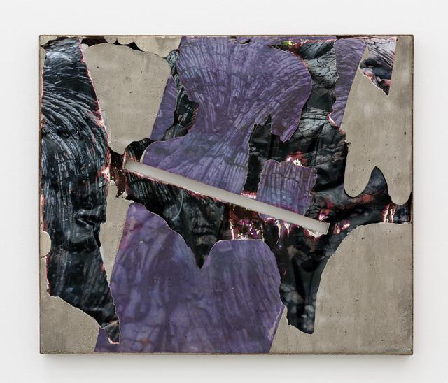 , 'Kona Lava Black Slash (Steel),' 2015, Anat Ebgi