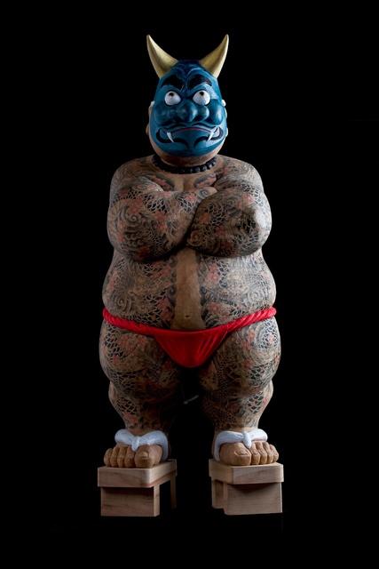 """, '""""Otokogi (Chivalry)"""":  Ao oni (Blue demon),' 2016, Watanuki Ltd. / Toki-no-Wasuremono"""