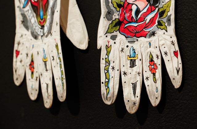 Ellen Greene, 'Bad Ass Boss Lady', 2018, Fashion Design and Wearable Art, Acrylic on vintage gloves, Paradigm Gallery + Studio