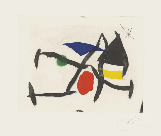 Joan Miró, 'Plate 8 from: Càntic del Sol', 1975, Christie's