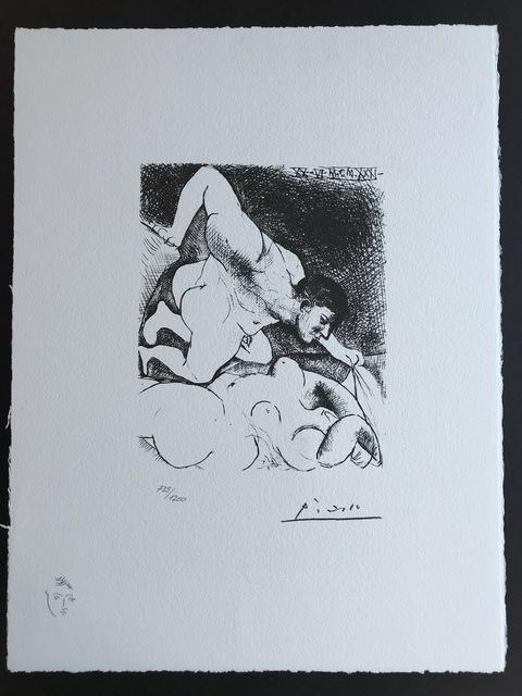 Pablo Picasso, 'Homme dévoilant une femme (Suite Vollard Planche V)', 1973, ByNewArt