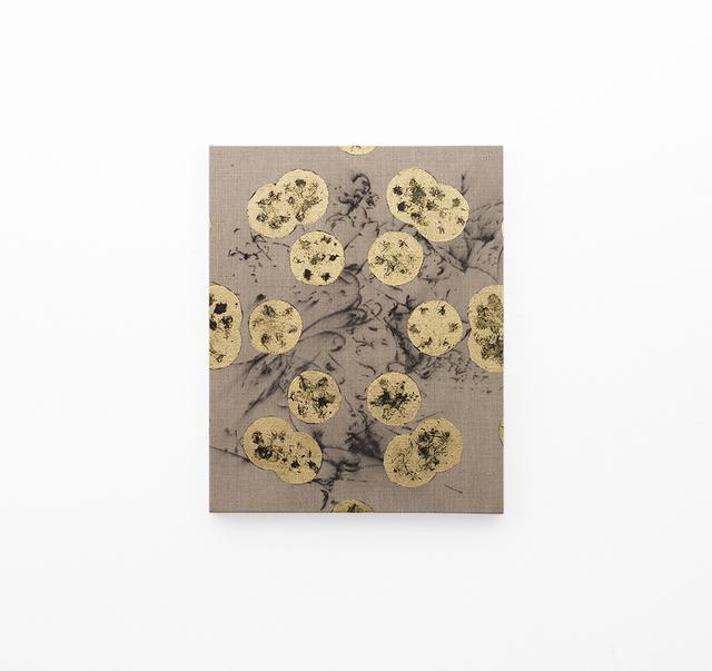 , 'Hair orchid sweat print, black in geometry on hair orchid sweat print drawing,' 2018, SMAC
