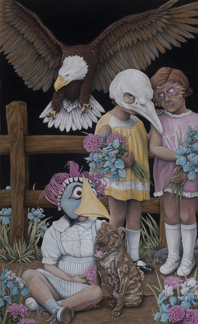 , 'Brindle and Kids,' 2019, Jonathan LeVine Projects