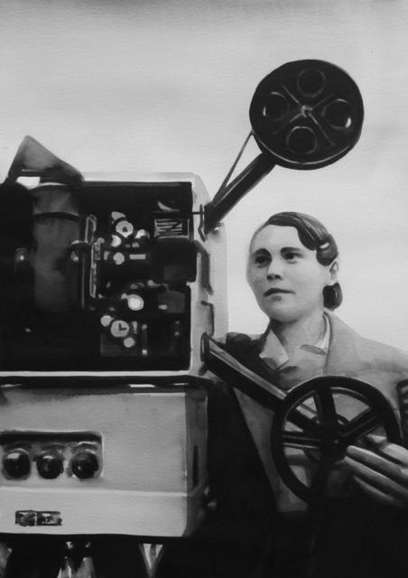 "Radenko Milak, 'Female projectionist in Tashkent, Uzbekistan (1930s), from the series ""So close and yet so far""', 2014, PRISKA PASQUER"