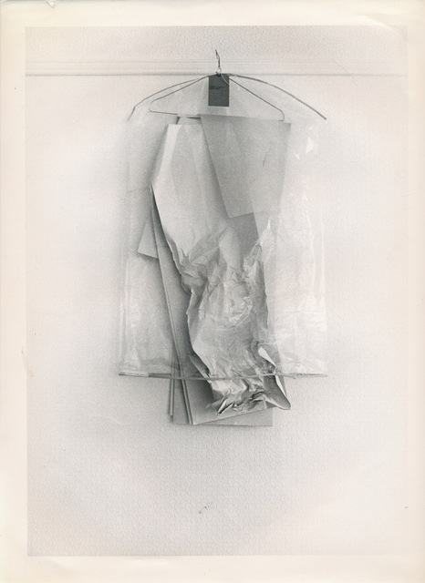 , 'Installation for wardrobe hanging on picture rail,' 1969, Tanya Leighton