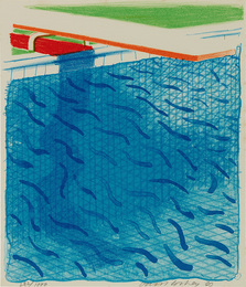 Pool Made with Paper and Blue Ink for Book, from Paper Pools