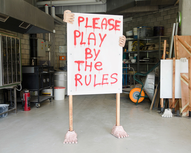, 'Humanoid Banner - Please Play By The Rules,' 2018, GALLERY GALLERY