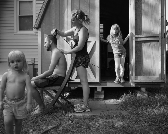 , 'Backyard Haircut, Norfolk Virginia,' 2015, The Southern