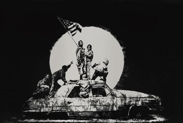 Banksy, 'Flag (Silver) - Unsigned', 2006, Hang-Up Gallery