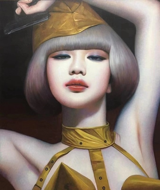 Zhang Xiangming, 'Beijing Girl', 2018, Painting, Oil on canvas, Soemo Fine Arts