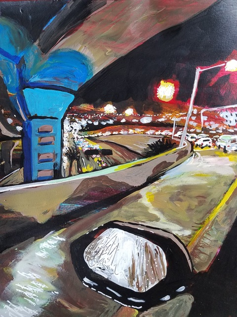 , 'Underpass At Night,' 2018, Flow 305
