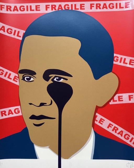 Pure Evil, 'Crying Obama', 2017, Landmark Street Art