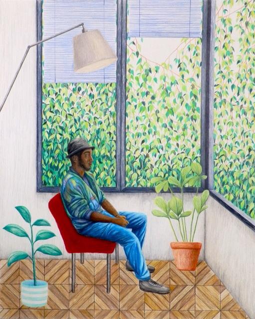 , 'Cedric Thinking ,' 2018, Kolja Kramer Fine Arts