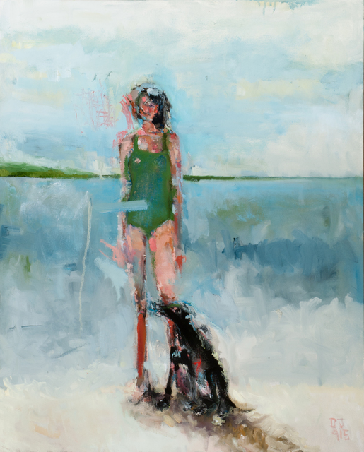 , 'Woman with Dog,' 2015, Seager Gray Gallery