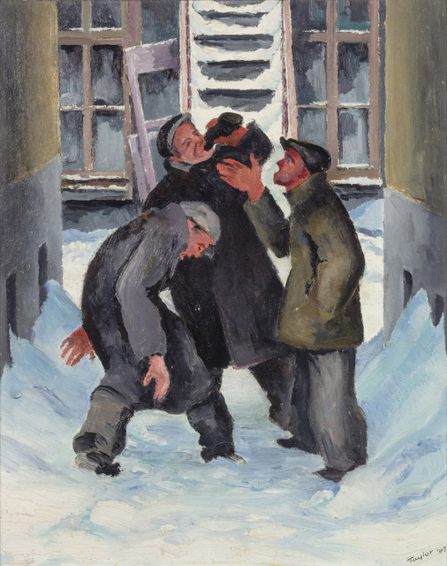 , 'Rubby Dubs, Clark St., Montreal,' 1947, Canadian Fine Arts