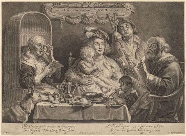 Schelte Adams Bolswert after Jacob Jordaens, 'The Family Concert (As the old sing, so the young twitter)', National Gallery of Art, Washington, D.C.