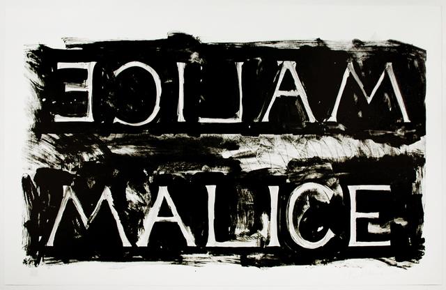 , 'Malice,' 1980, Brooke Alexander, Inc.