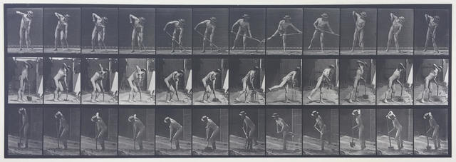 , 'Plate 387. Movements, male, farmer, using a long-handled shovel.,' 1887, Laurence Miller Gallery