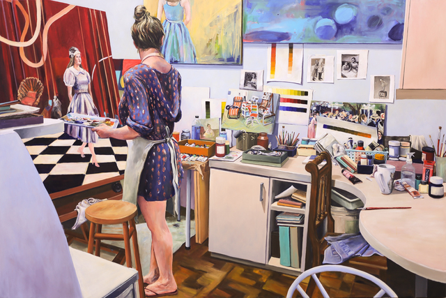 Marilice Corona, 'O Atelier de Letícia ou O Espaço da Pintura', 2017, Bolsa de Arte