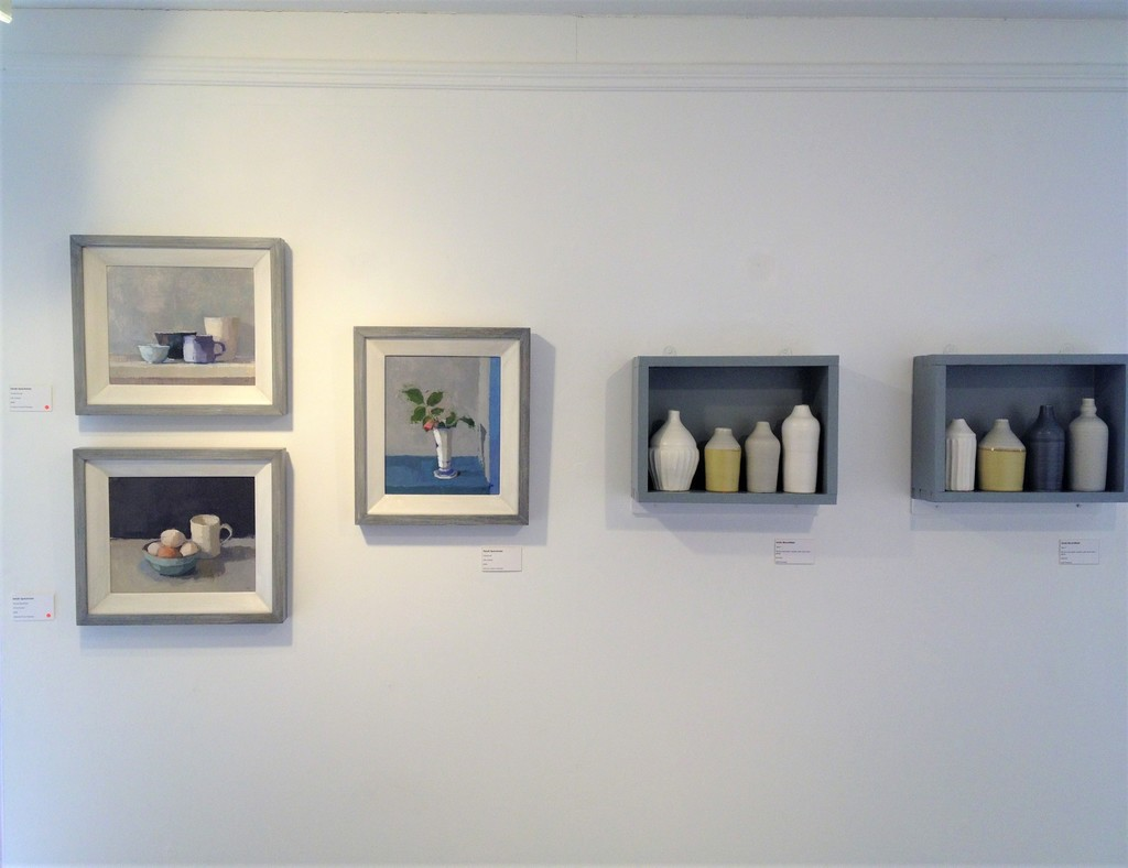Sarah Spackman Paintings with Linda Bloomfield Ceramics - Dialogues Exhibition