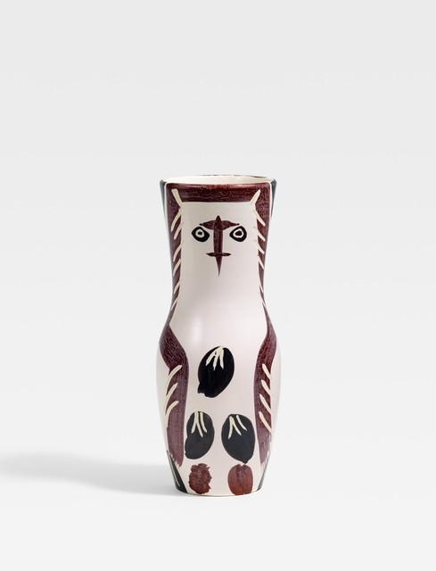 Pablo Picasso, 'Young wood owl', 1952, Sculpture, White earthenware clay, partly polychromed and glazed, BAILLY GALLERY