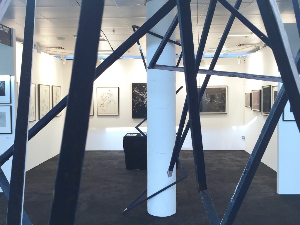 Stand P7, looking through 'Freeloader' installation by David Watkins