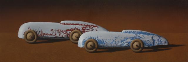 Peter Miller, 'Midget Racers- Fun Ho!', 2018, Painting, Oil on canvas, Black Door Gallery