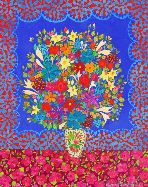 , 'Blue Flowers,' 2012, Rebecca Hossack Art Gallery