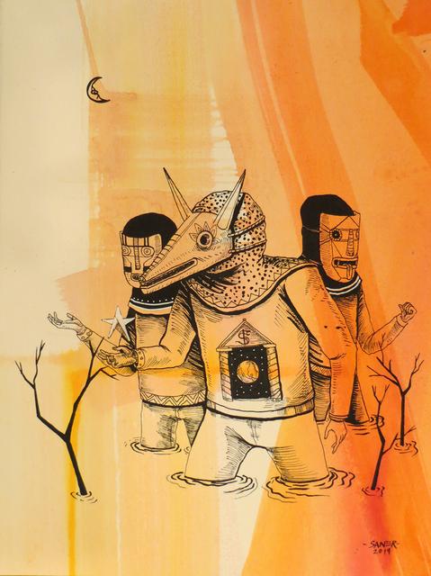 , 'The Three False Men,' 2014, Jonathan LeVine Projects