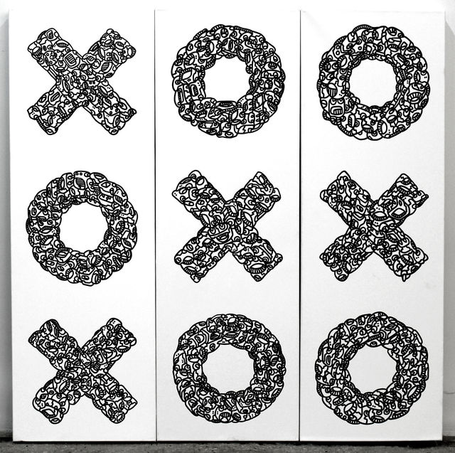 , 'XXO triptych,' 2013, Catherine Ahnell Gallery