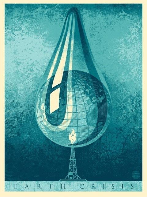 Shepard Fairey (OBEY), 'Earth Crisis Drop', 2016, Perry J. Cohen Foundation Benefit Auction