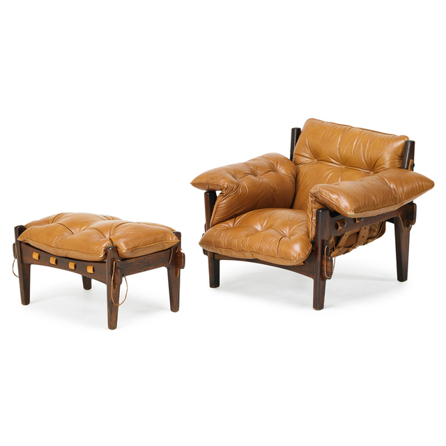Sergio Rodrigues, 'Mischievous Lounge Chair And Ottoman, Brazil', 1960s, Rago/Wright