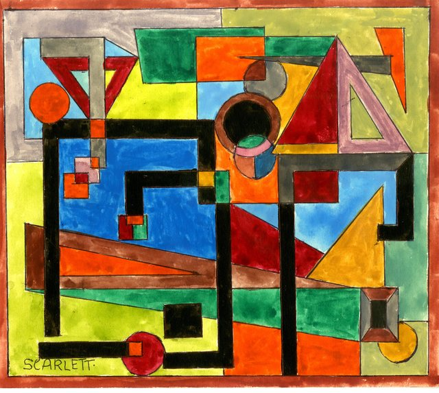 , 'Untitled Geometric Abstraction (Estate Stamped),' ca. 1945, Alpha 137 Gallery