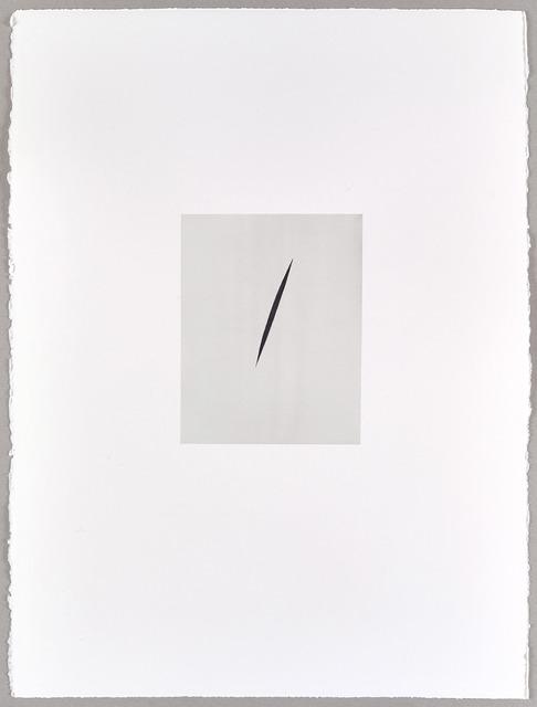 , 'Payne's Grey Split (I),' 2016, Parafin