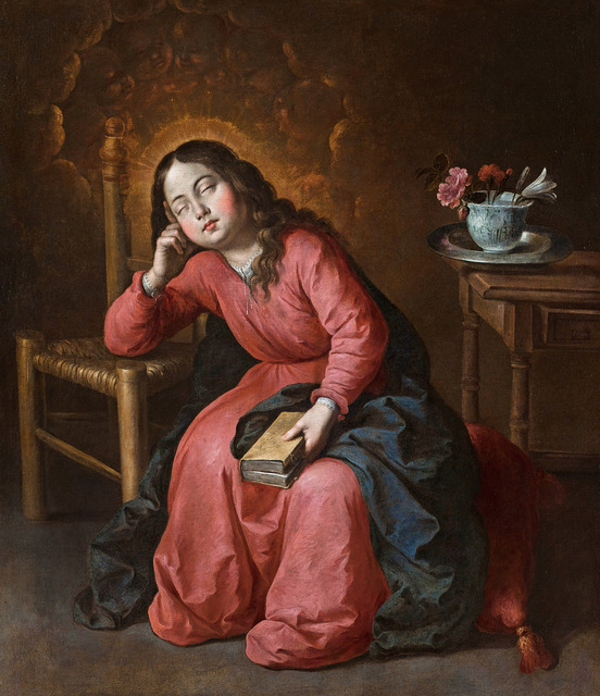 , 'Virgen Niña dormida (The Virgin Mary as a Child, Asleep),' ca. 1655, Museo Thyssen-Bornemisza
