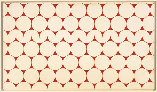 François Morellet, 'Cercles et demi-cercles [Circles and Semicircles]', 1952, Painting, Oil on wood, Art Resource
