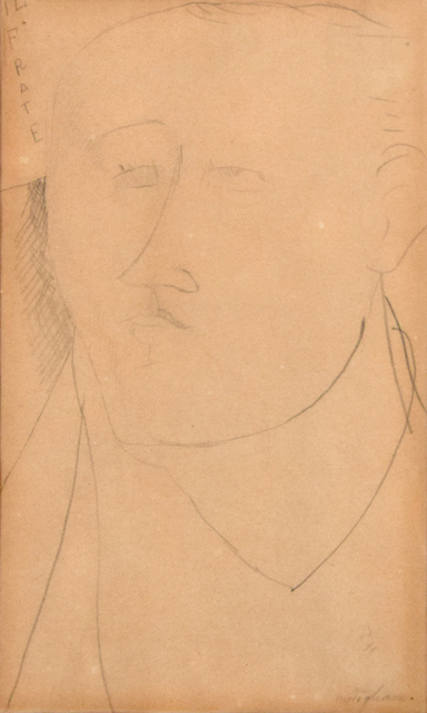 Amedeo Modigliani, 'Il Frate (The Monk) - Portrait of Paul Guillaume', 1914, Wallector